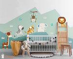 muursticker jungle safari dieren baby en kinderkamer decoratie