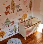 Behang bosdieren baby en kinderkamer decoratie