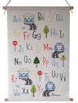 volkswagen alfabetposter baby en kinderkamerdecoratie