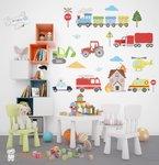 stoere voertuigen muursticker baby en kinderkamerdecoratie