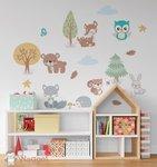 bosdieren muursticker baby en kinderkamerdecoratie