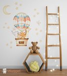 droomwereld luchtballon muursticker