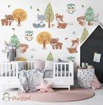 bosdieren behang baby en kinderkamer