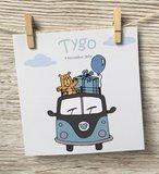 Volkswagen geboortekaartje mint bus