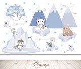 Waggel en vriendjes behang voor de baby en kinderkamer