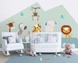 safari jungle baby en kinderkamer behang