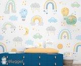 regenboog behang voor de baby en kinderkamer