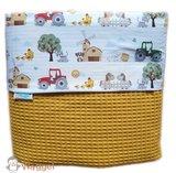 ledikant en wieg deken boerderijdieren kinderwagen