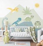 dino behang voor baby en kinderkamer
