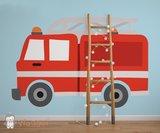 brandweerwagen behang baby en kinderkamer