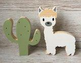 Houten cactus thema babykamer alpaca