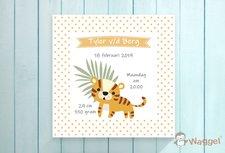 Geboortecanvas tijger