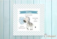 Geboortecanvas zebra