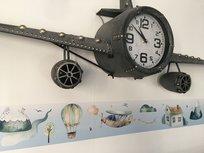Stickerrand droomwereld vliegtuigen