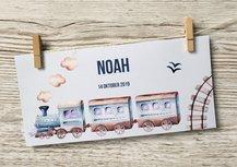 Geboortekaartje droomwereld trein