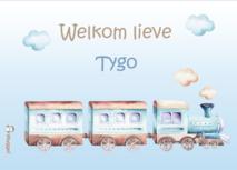 Geboortebord droomwereld trein