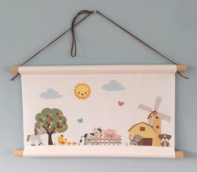 Textielposter boerderijdieren