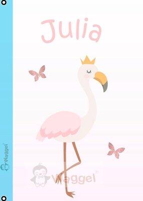 Geboortebord flamingo