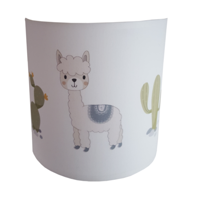 Wandlamp alpaca en cactussen