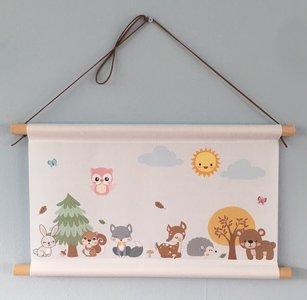 Thema bosdieren baby en kinderkamer decoratie