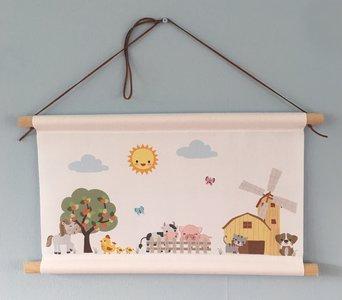Thema boerderijdieren baby en kinderkamer decoratie