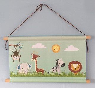 textielposter safari thema baby en kinderkamer decoratie