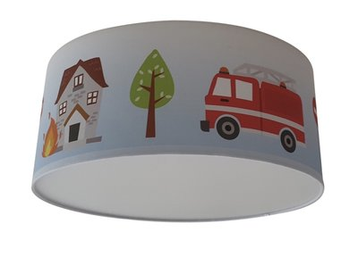 Plafondlamp 112 hulpvoertuigen baby en kinderkamer