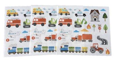 stoere voertuigen mini muurstickers baby en kinderkamerdecoratie