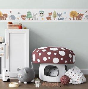 bosdieren behangrand baby en kinderkamerdecoratie