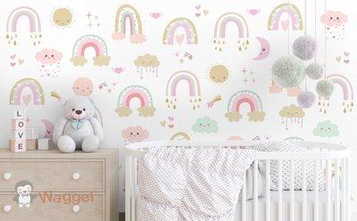 regenboog behang baby en kinderkamerdecoratie