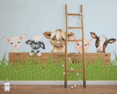 boerderijdieren behang