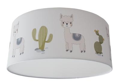 Plafondlamp baby en kinderkamer alpaca en cactus thema zoo