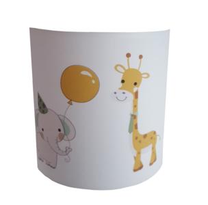 wandlamp baby en kinderkamer thema safari olifant en giraf