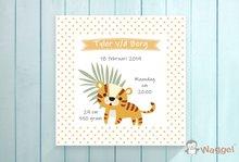 geboortecanvas doek thema safari tijger