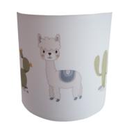 wandlamp baby en kinderkamer met alpaca en cactussen thema zoo